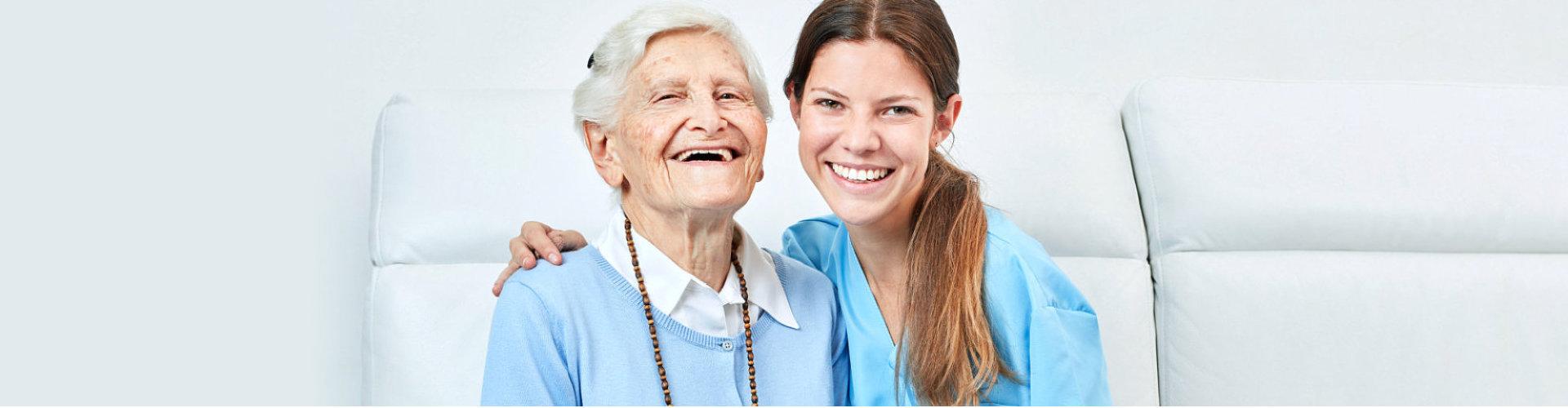 two beautiful ladies smiling